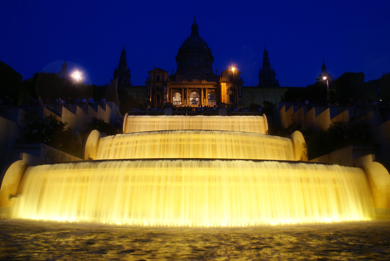 Palace and fountain at night, Barcelona