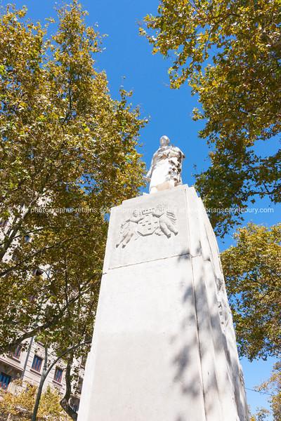 Statue Joan Güell i Ferrer Barcelona, Spain
