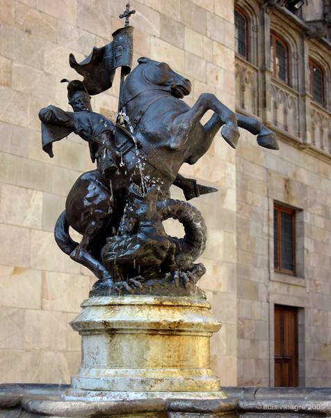 sant jordi, pati dels tarongers, palau de la generalitat, barcelona