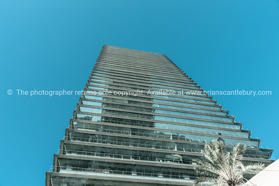 Modern office building low angle point of view
