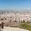 Panorama from Castell Santa Barbara of Alicante ueban area from Mediterranean Spain