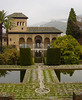 Reflecting pools and gardens surrounding the Alhambra - Grenada - Spain