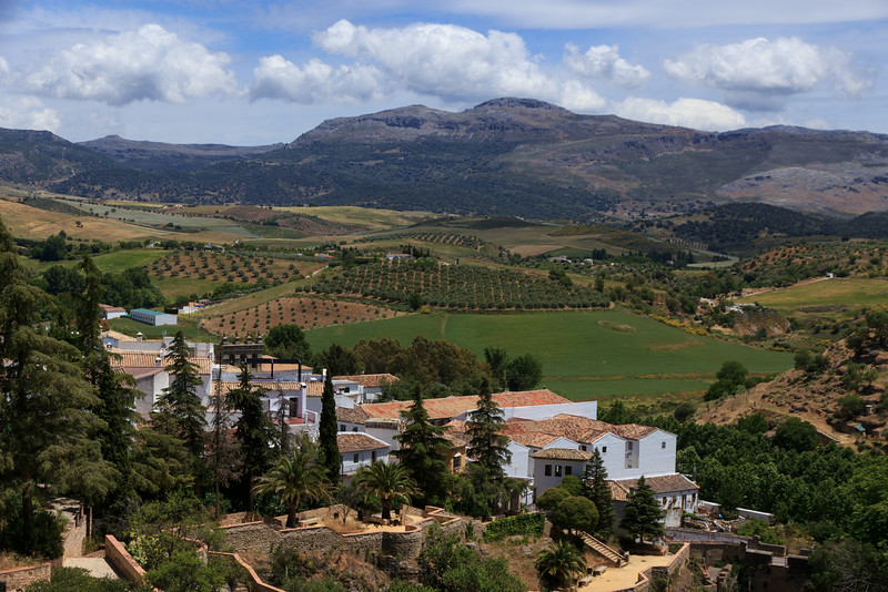 Our lunch stop was Ronda, a white village in a beautiful agricultural landscape.