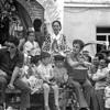Parade float in Chipiona, Andalucia celebrating Nuestra Señora de Regla.  September 1980.  Notice the 4 liter wine jug.