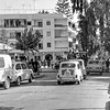 September 1979.  Avenida de Regla, Chipiona, Andalusia.  Last weekend of tourist season.<br /> <br /> 6x6 Tri-X shot in a Yashicamat-124G