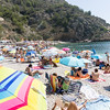 Beach in summer at La Granadella, Alicante, Jávea, Valencia, Spain