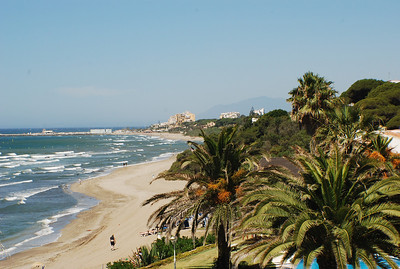 View from the house we stayed at on Costa del Sol in Spain