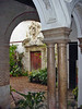 Marble columns line this Courtyard in a Spanish villa - Ecija - Spain