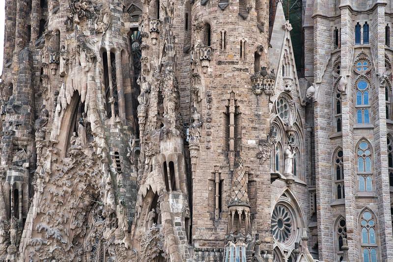 Sagrada Familia - Three Periods of Construction