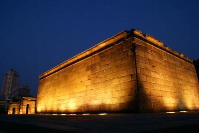 Backside of the Temple Debod, Madrid