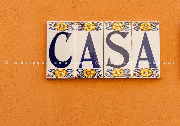 CASA tiled on wall