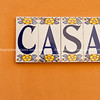 CASA tiled on wall