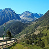 One of the many magnificant views while driving through the Pyrenees.