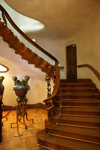 Gaudi designed mansion, entrance, Barcelona