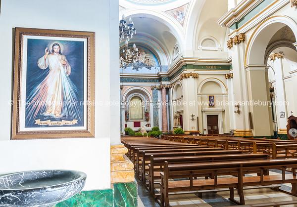 Ornate Interior Saint Maria  church Alcalali   typically historic Mediterranean design and style, Spain.