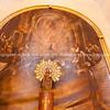 Ornate niche in Catholic church in Alicante Spain street and building scene