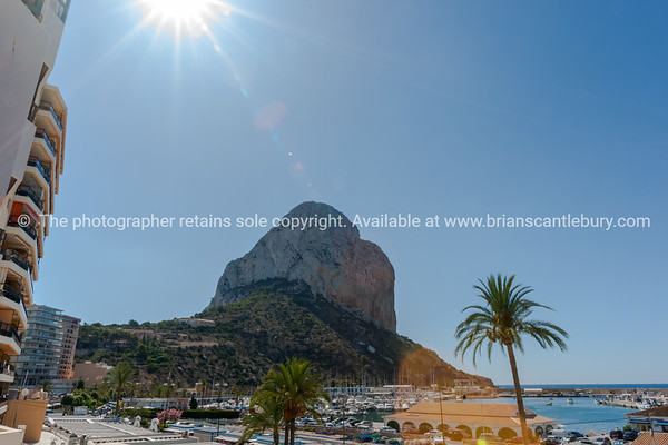 Peñón de Ifach, large rock at Calpe, Alicante Spain