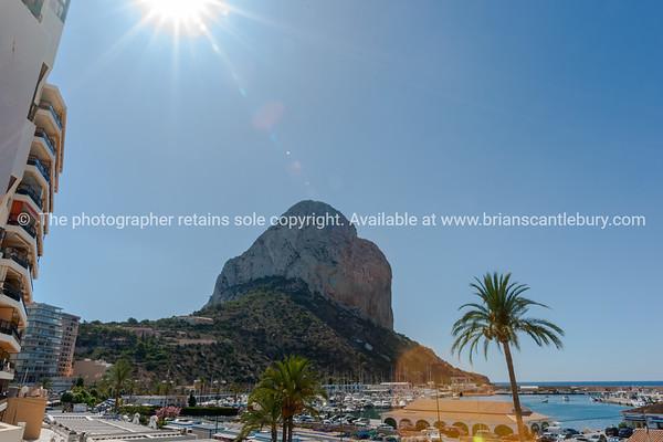 Peñón de Ifach, large rock at Calpe, Alicante Spain