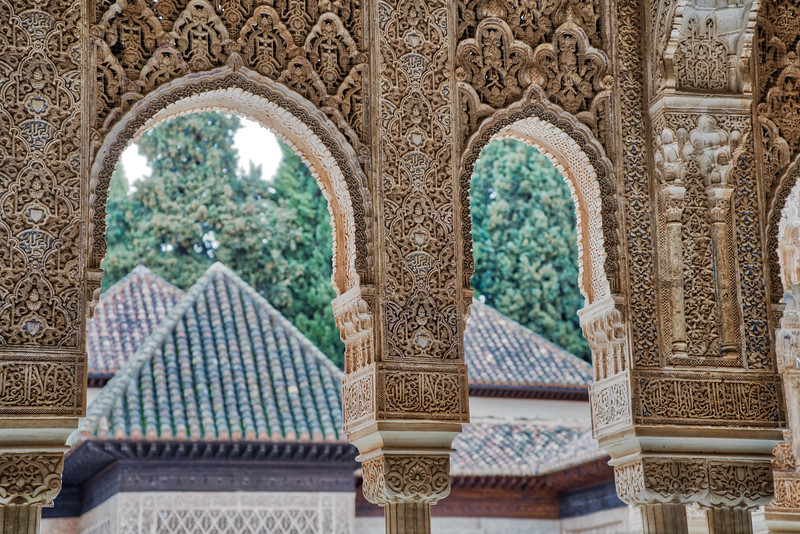 The Alhambra - Moorish Columns and Arches