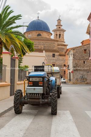 Xalo street scene, Spain