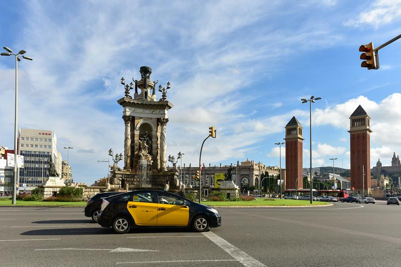 Placa de Espanya - Barcelona, Spain