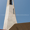 Modern architecture in concrete Murla modern style concrete bell tower, Costa Blanca, Spain