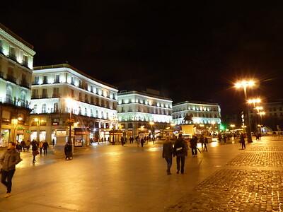 Plaza at Night - Madrid