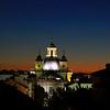 Madrid Church at Dusk