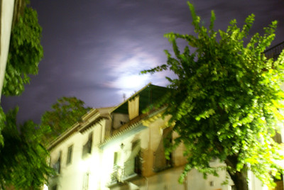 Surreal Granada at night