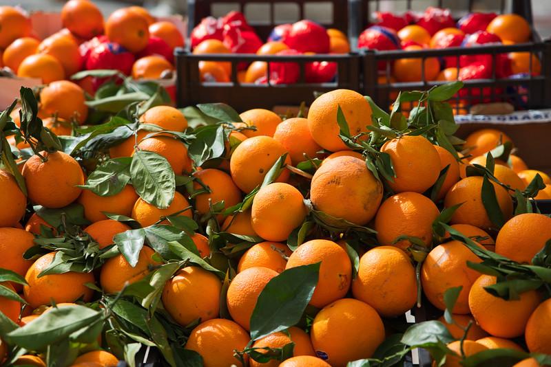 Valencia Oranges at the Market