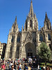After a tour of the neighborhood, including the Cathedral of Barcelona, we were off to see another church, Gaudi's Sagrada Familia.