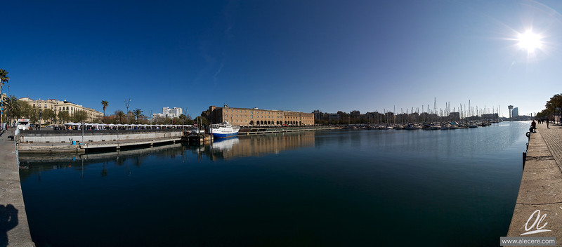 Barcelona harbour - A panorama