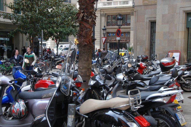 Scooters and motorcycles are everywhere in the larger cities and much faster than cars for transportation, as well as much easier to park.