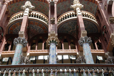 Palau de la Musica Catalana.  Inspired by Guadi's style, Architect Lluís Domènech i Montaner