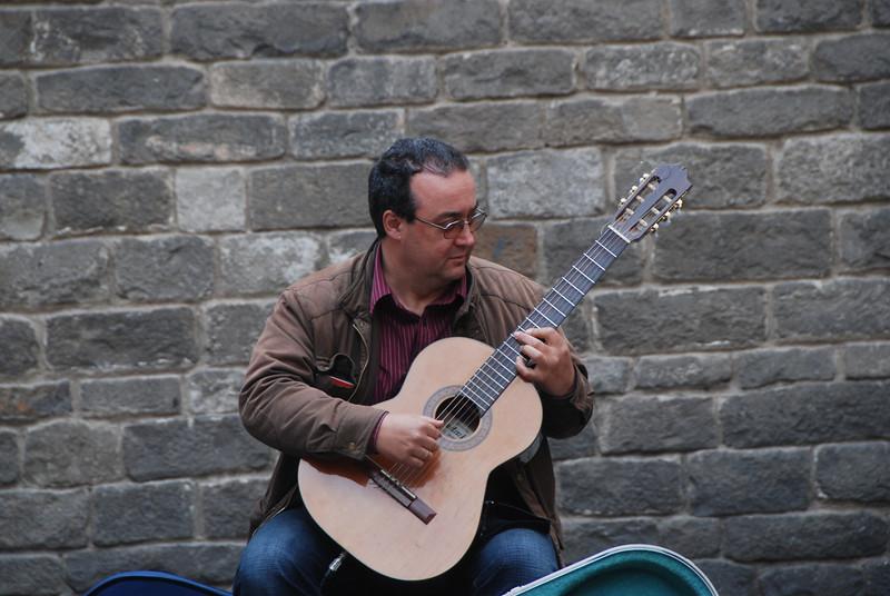 Flamenco street musician
