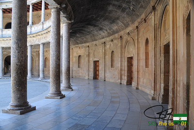 Circle within the Square.  Palace of Charles V plunked right in the middle of the Alhambra.
