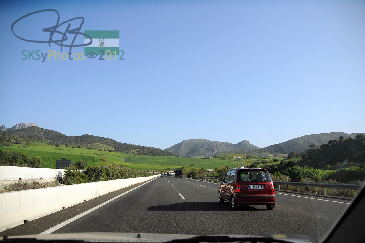 Heading north out of Malaga.  Turn left to Sevilla.