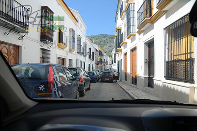 Waiting our turn on the narrow streets of Estepa.  On the way from Sevilla to Granada.  4/10/11