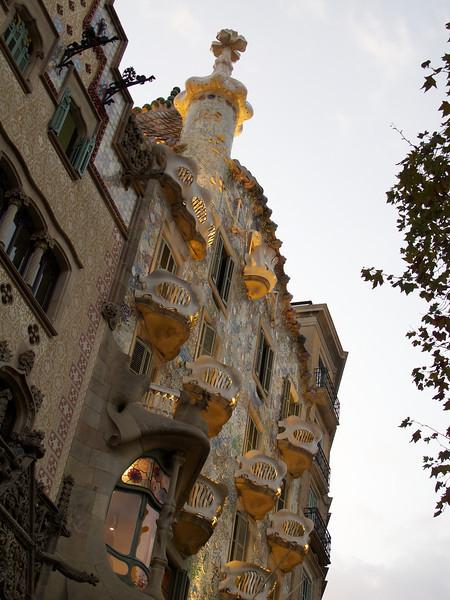 Gaudi's Casa Batllo near dusk