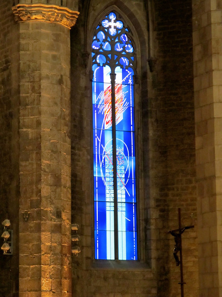 Stained Glass at Santa Maria del Mar