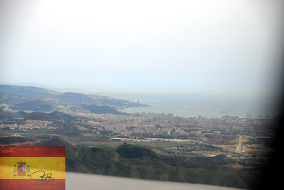 Flying into Malaga, Spain.  April 2, 2011.