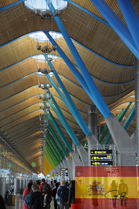Madrid's beautiful airport.
