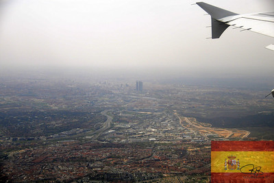 View of Madrid on flight to Malaga.