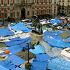 Protestors in Puerta del Sol plaza in Madrid, May 2011