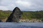 Volcanic formations mix with limestone in the Ogasawara Island, Japan