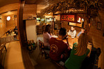 Wetpixel expedition members eat at a local restaurant in the Ogasawara Islands, Japan