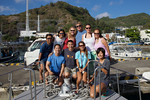 Group shot: Makoto Takahashi (captain), Tomoko Takahashi, Julia Sumerling, Douglas Seifert, Emily Irving, Emiko Miyazaki, Tony Wu, Eric Cheng, Shiho, and crew member