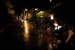 The streets of Chichijima Island, Ogasawara, Japan at night
