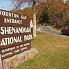 USA-Sperryville-Entrance to the Shenadoah National Park at Thornton Gap near Sperryville