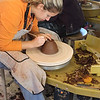 USA-Sperryville-Pamela Chovnick takes a pottery class at Sperryville Pottery